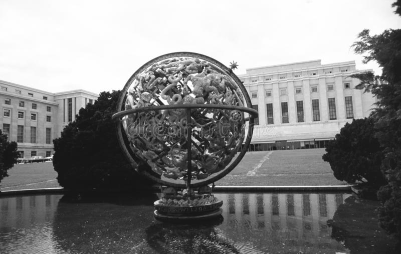 Switzerland: The UN-Mission and Palais des nations in Geneva stock images