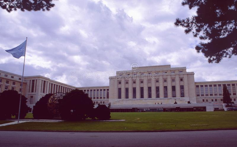 Switzerland: The UN-Mission and Palais des nations in Geneva royalty free stock photo