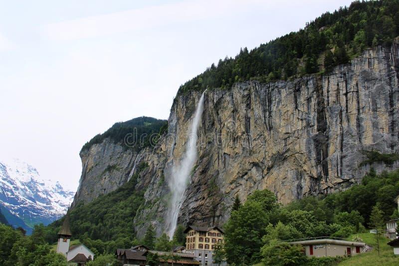 Switzerland waterfall royalty free stock photo