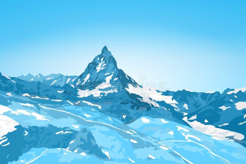 swizz matterhorn бортовое бесплатная иллюстрация