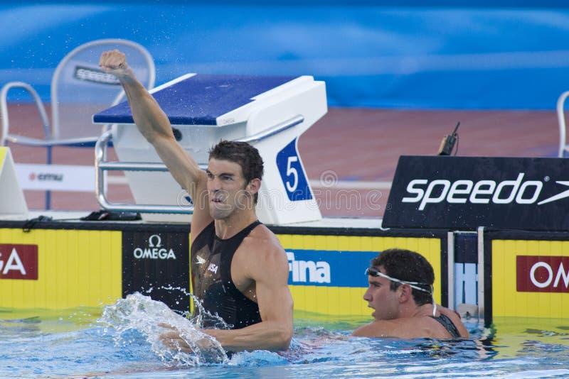 SWM: Światowy Aquatics mistrzostwo - mężczyzna 100m motyli finał obrazy stock