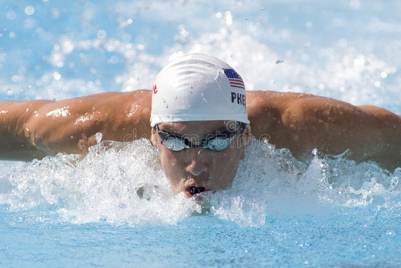 SWM: Πρωτάθλημα παγκόσμιου Aquatics - 100m πεταλούδα των ατόμων qualific στοκ εικόνα με δικαίωμα ελεύθερης χρήσης