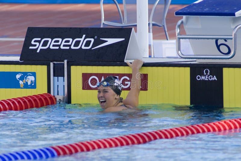 SWM: Campeonato dos Aquatics do mundo - final da costas dos 200m das mulheres imagens de stock