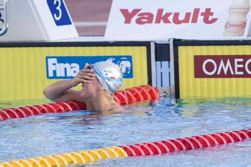 SWM: Campeonato dos Aquatics do mundo - final do estilo livre dos 200m das mulheres imagem de stock royalty free