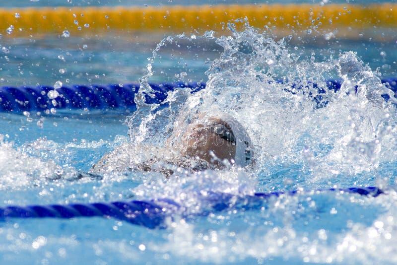 SWM: Campionato di Aquatics del mondo - dorso del 100m delle donne immagini stock