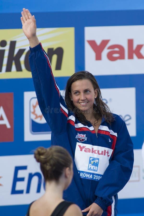SWM: Campionato di Aquatics del mondo - finale di rana dei 50m delle donne immagine stock