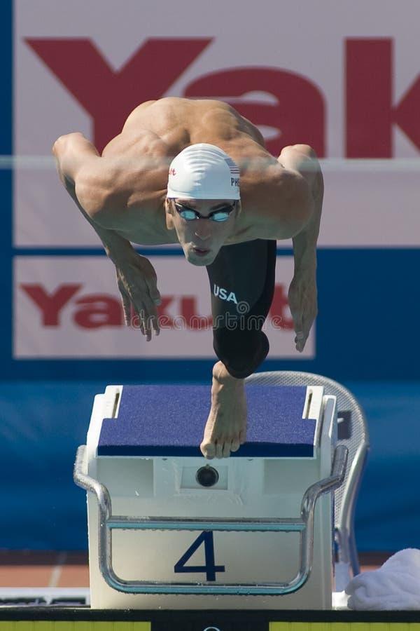 SWM: Campionato di Aquatics del mondo - qualificazione della farfalla del 100m degli uomini  immagine stock libera da diritti