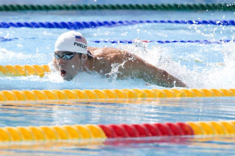 SWM : Championnat d'Aquatics du monde - qualificateur de papillon de 200m des hommes photographie stock libre de droits