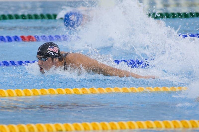 SWM: VärldsAquaticsmästerskap - mäns final för 4- x 100m medley arkivbilder