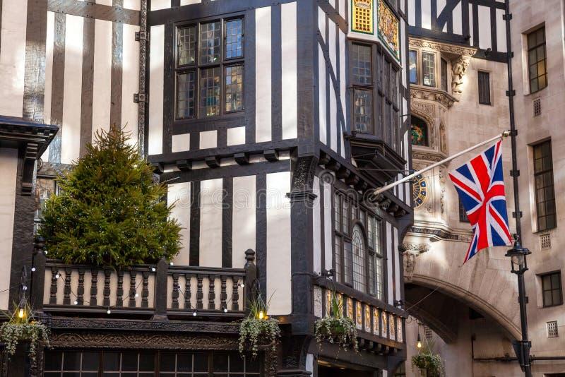 Swoboda Londyński fasadowy szczegół zdjęcia stock