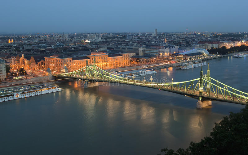 Swoboda most w Budapest obrazy royalty free