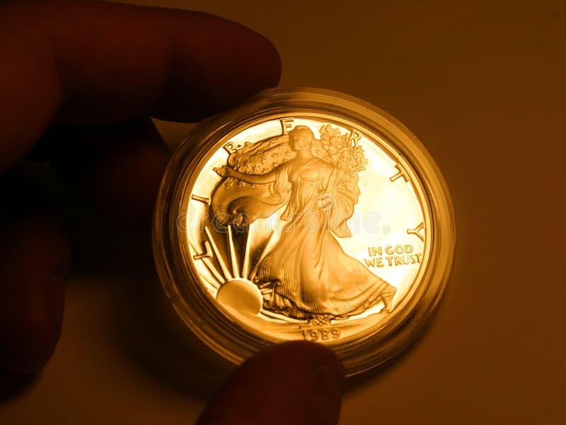 swoboda złota fotografia stock