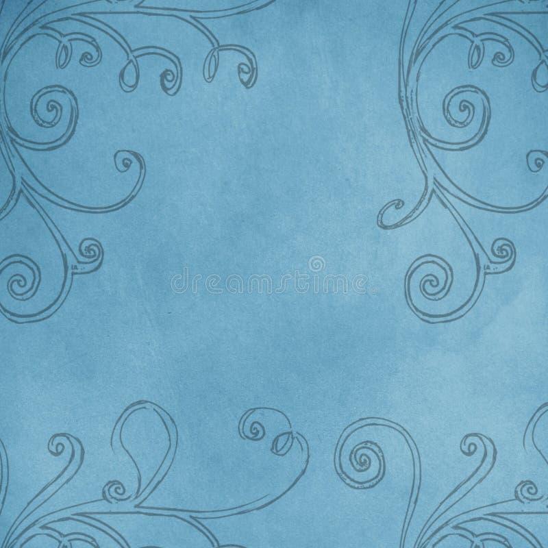 Swobody rama z spiralami i kędziorami ilustracja wektor