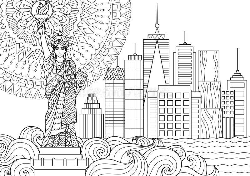 Swobody statua royalty ilustracja