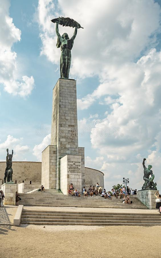 Swobody statua Budapest fotografia royalty free