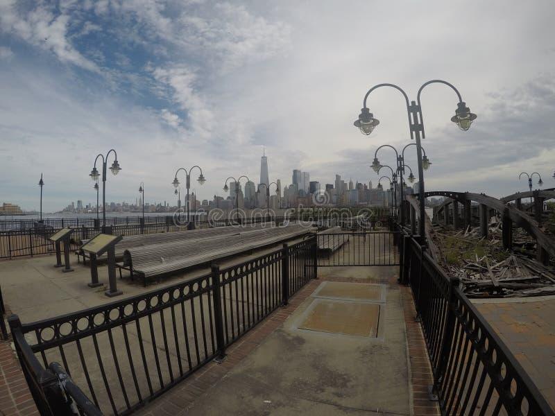 Swobody statuy park, NYC, EEUU zdjęcia royalty free