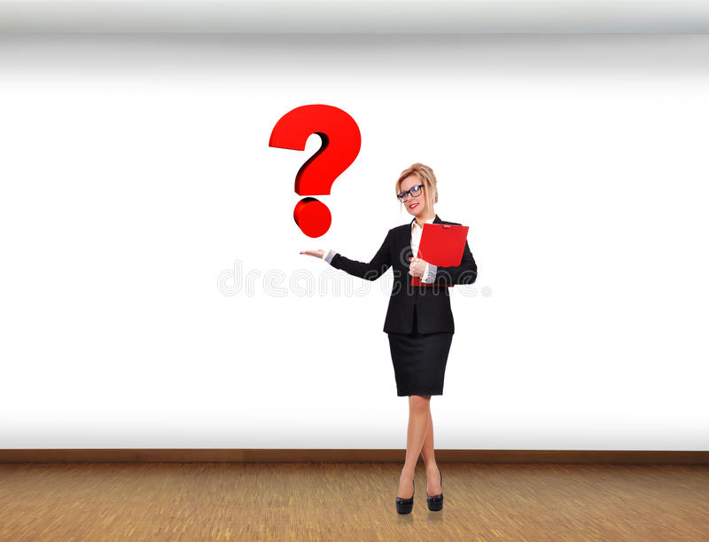 Download Swoman holding question stock illustration. Image of businessman - 39314029
