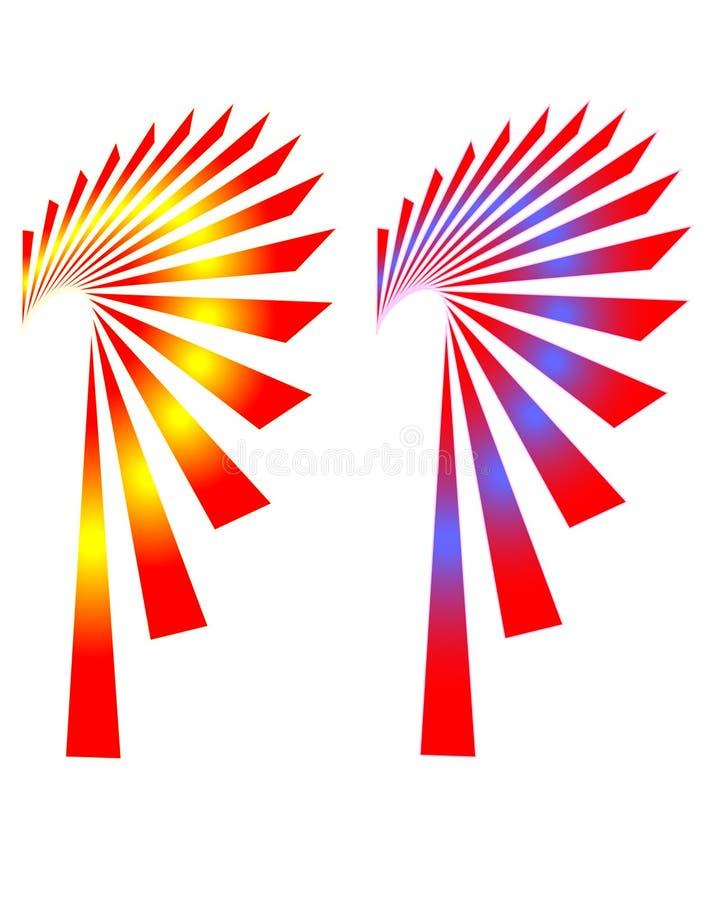 swooping форм вентилятора бесплатная иллюстрация