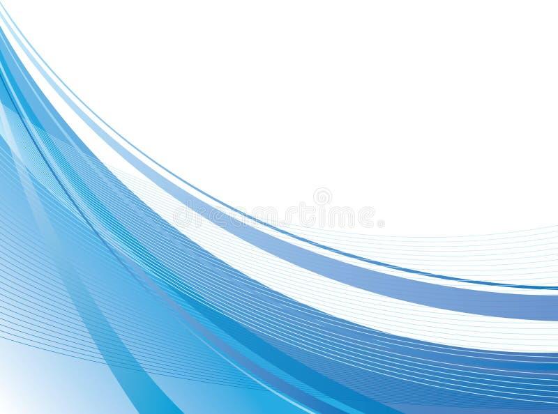 Swoosh bleu illustration libre de droits