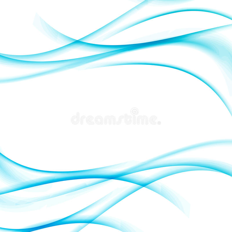 Swoosh blue waves certificate abstract lined background stock illustration