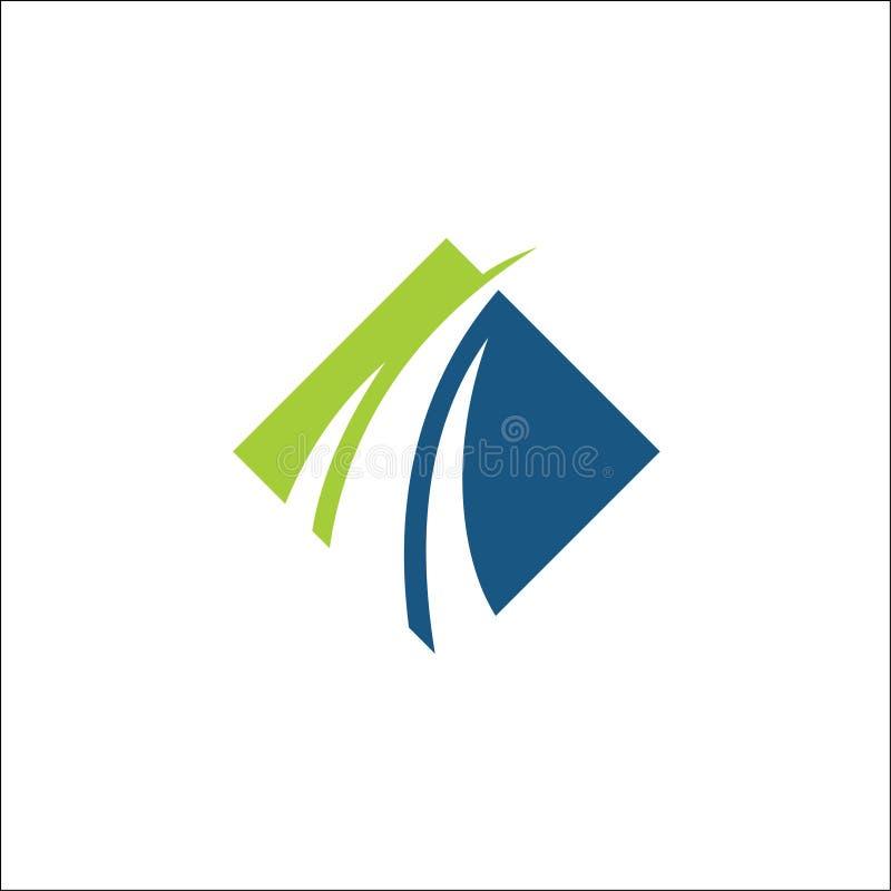 Swoosh de consulta do molde do vetor financeiro do logotipo ilustração stock