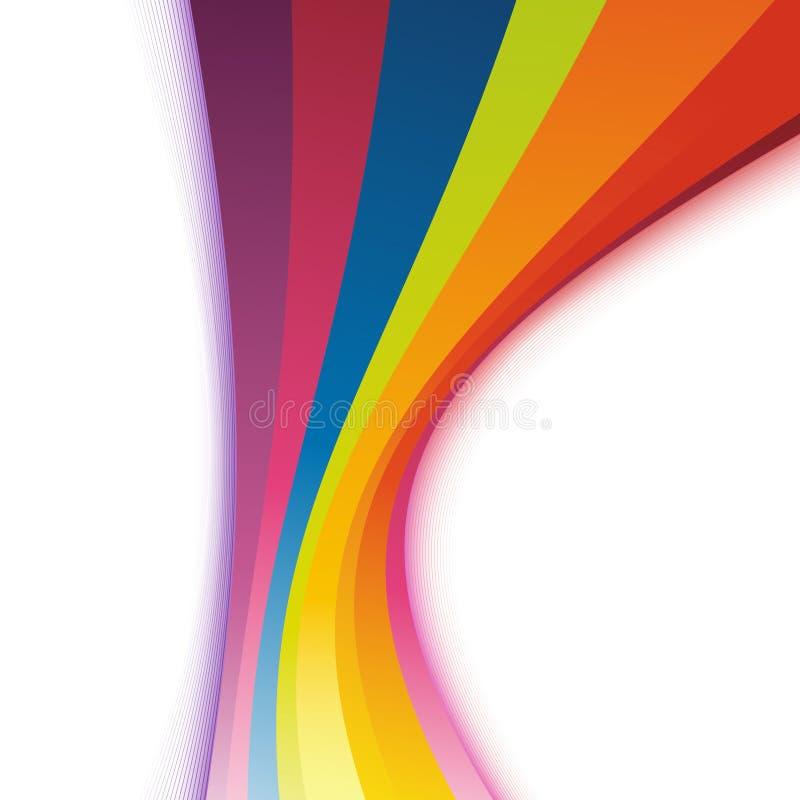 Swoosh de refrescamento colorido brilhante do arco-íris ilustração royalty free