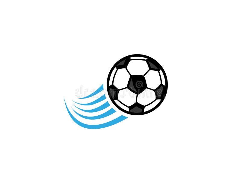 Swoosh do futebol para o logotipo do slogan da equipe ilustração royalty free
