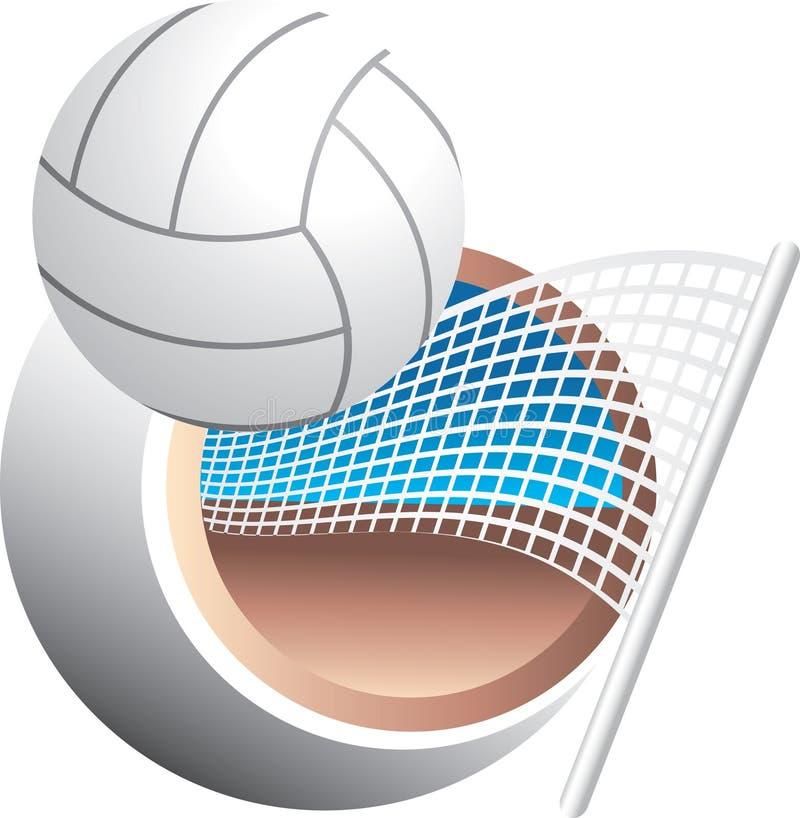Swoosh do voleibol ilustração stock