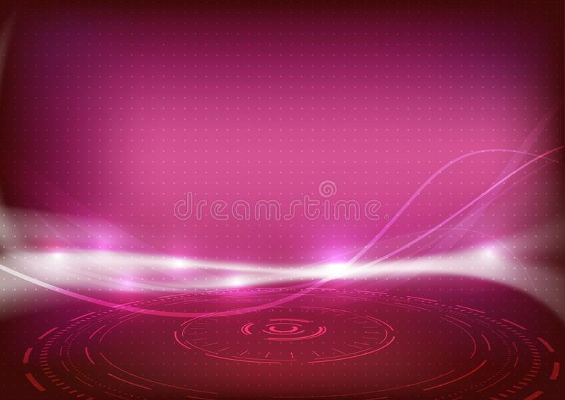 Swoosh energy wave red bright sparkling background. Clip-art royalty free illustration