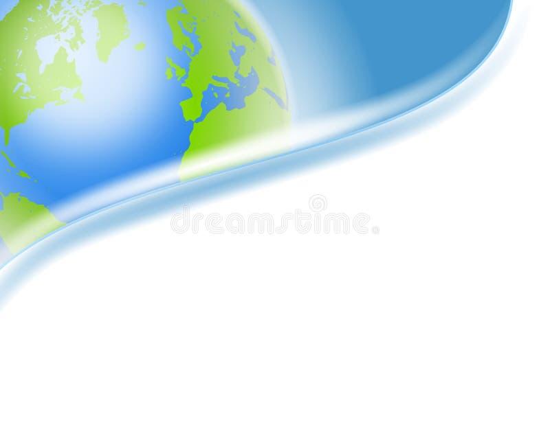 swoosh för logo för hörnjordtitelrad stock illustrationer