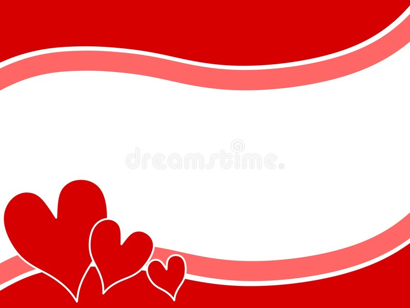 Swoosh Valentine Hearts Border Background 2 vector illustration