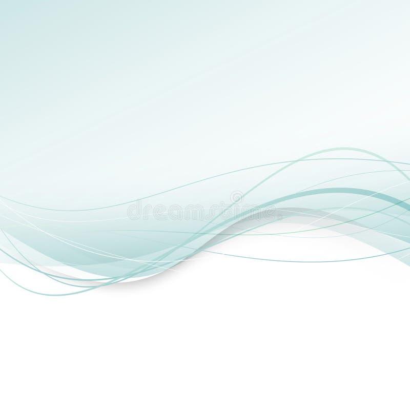 Swoosh verde abstrato - fundo de intervalo mínimo ilustração royalty free