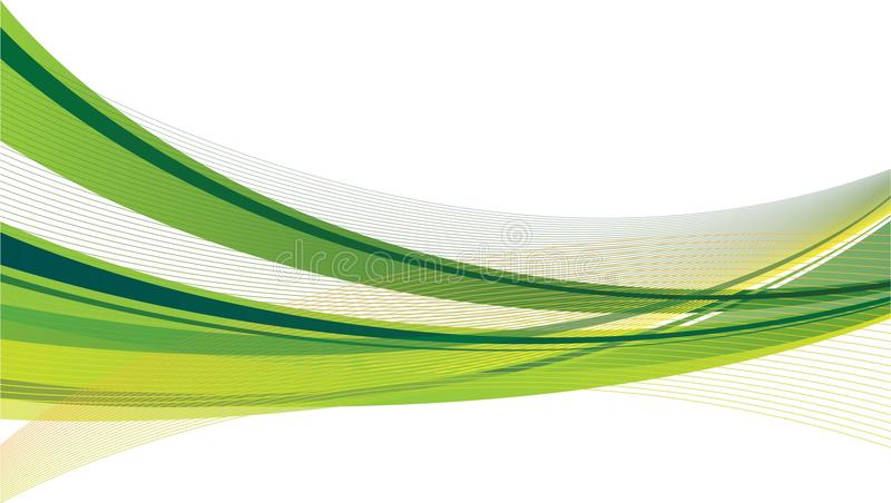 Swoosh verde y amarillo stock de ilustración