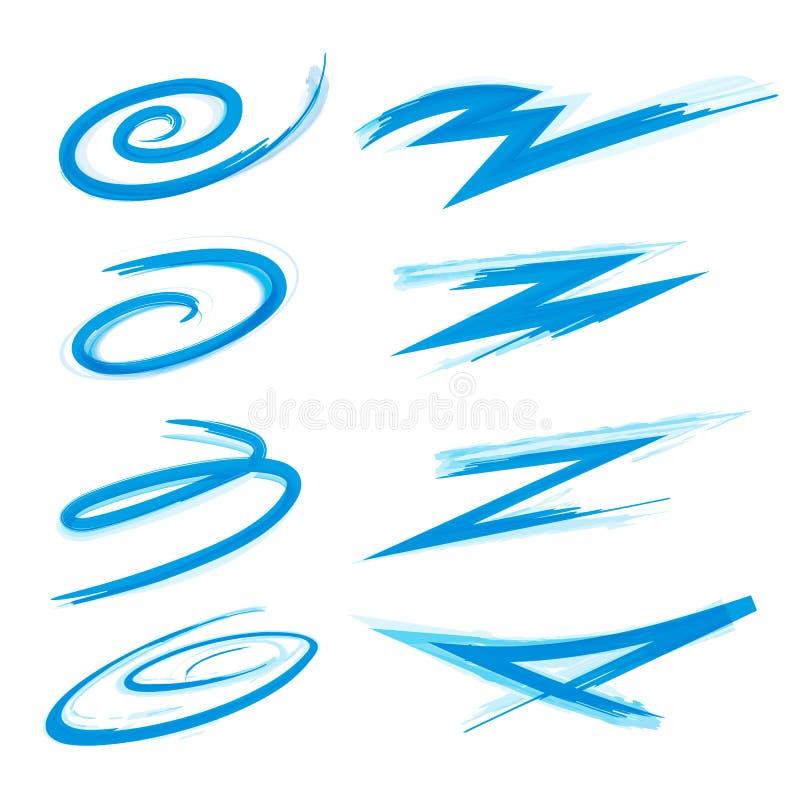 Swooshes и ходы Swirly бесплатная иллюстрация