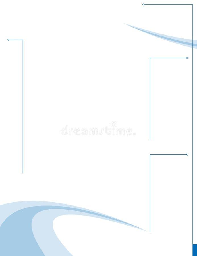 swooshy orienteringssida royaltyfri illustrationer