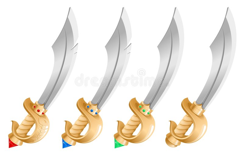 Download Sword stock vector. Image of isolated, fighting, fish - 6455108