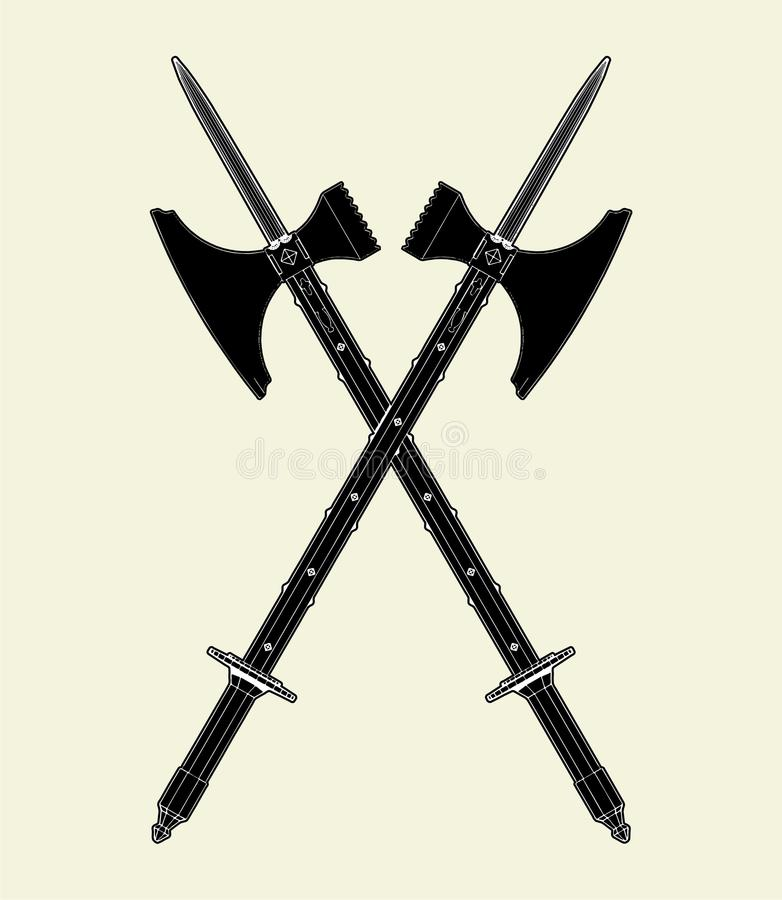 Download Sword Battle Axe Vector 01 Royalty Free Stock Images - Image: 14162029
