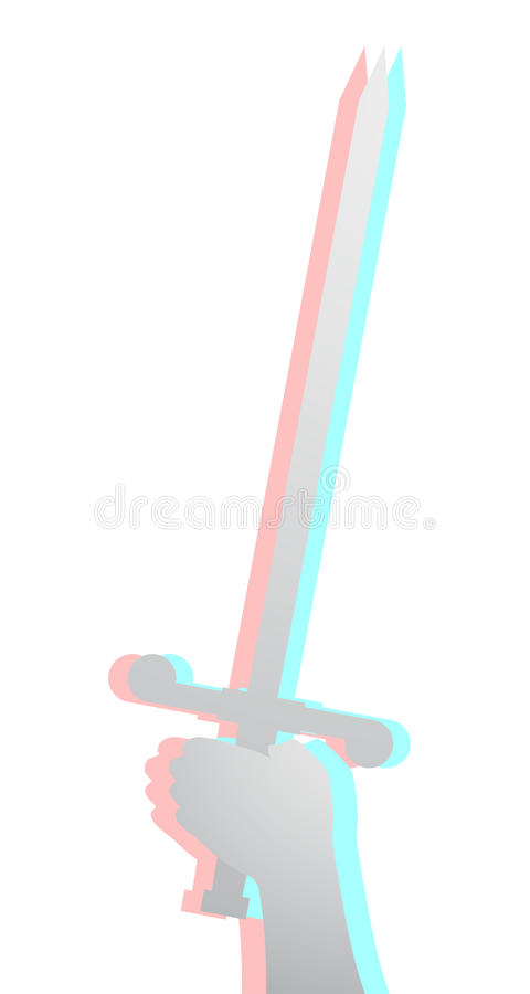 Sword effect stock illustration