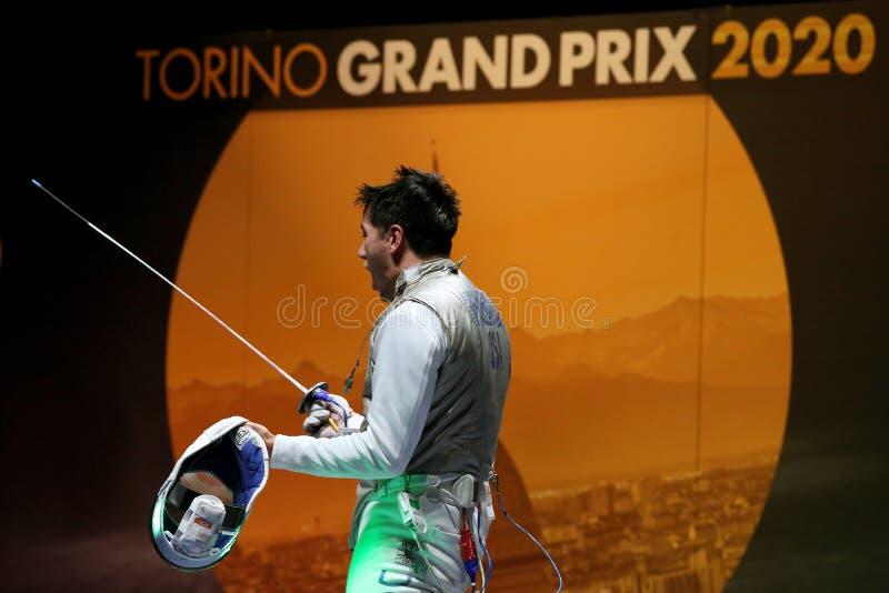 Sword FIE Fencing Grand Prix 2020 - Inalpi Trophy - Finals stock photography