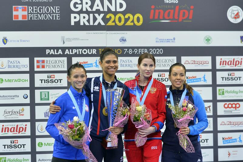 Sword FIE Fencing Grand Prix 2020 - Inalpi Trophy - Finals royalty free stock images