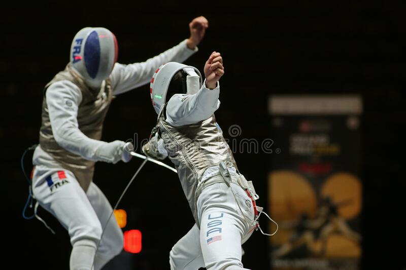 Sword FIE Fencing Grand Prix 2020 - Inalpi Trophy - Finals royalty free stock photography