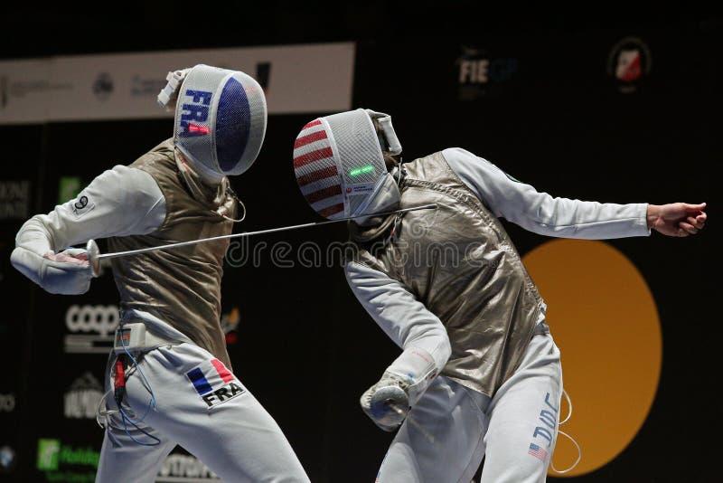 Sword FIE Fencing Grand Prix 2020 - Inalpi Trophy - Finals royalty free stock image