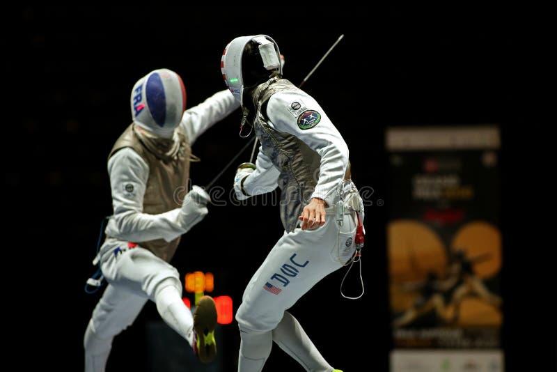 Sword FIE Fencing Grand Prix 2020 - Inalpi Trophy - Finals stock photo