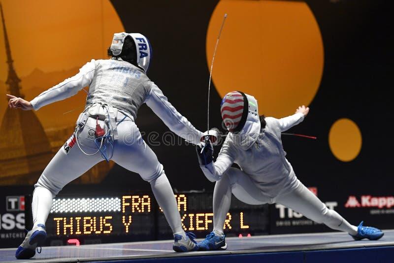 Sword FIE Fencing Grand Prix 2020 - Inalpi Trophy stock images