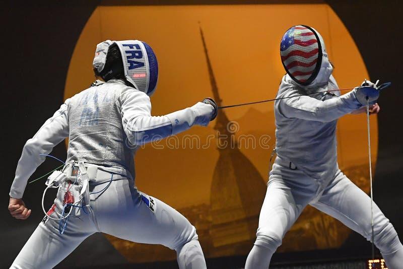 Sword FIE Fencing Grand Prix 2020 - Inalpi Trophy stock photo