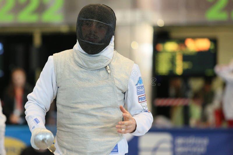 Sword FIE Fencing Grand Prix 2020 Men - Inalpi Trophy stock images