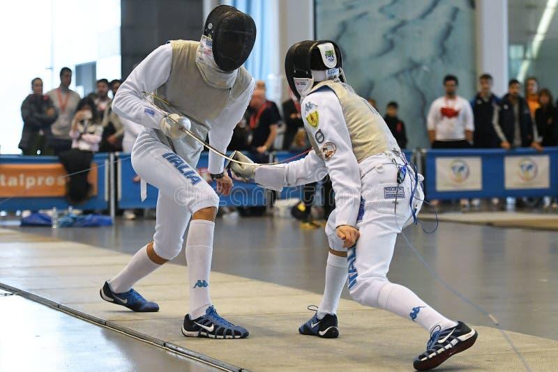 Sword FIE Fencing Grand Prix 2029 - Men stock photography