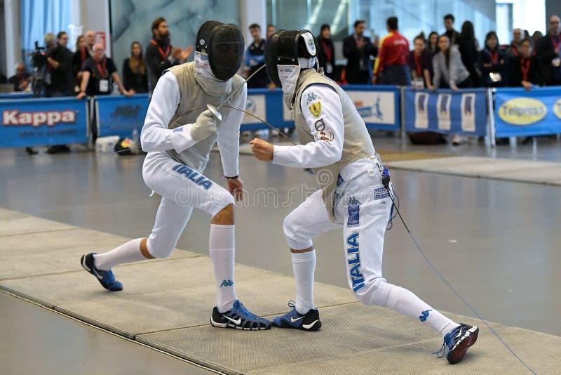 Sword FIE Fencing Grand Prix 2029 - Men stock photos