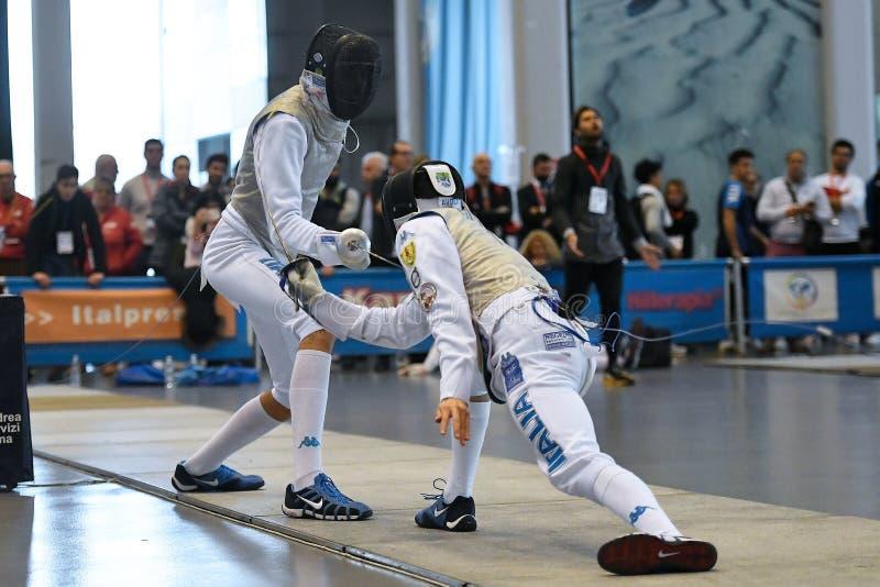 Sword FIE Fencing Grand Prix 2029 - Men royalty free stock images