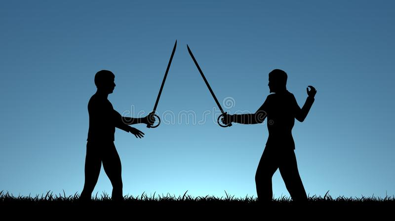 Sword Fight royalty free stock photos